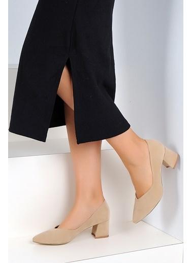 Pembe Potin A45-18 Kadın Ayakkabı Ten